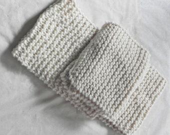 Handknit, Chunky, Oversized Scarf, Cream, Winter, Scarf, Fall, Extra Long Scarf, Cream Chunky Scarf