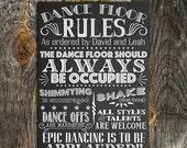 70% OFF THRU 2/20 Printable Custom Wedding Sign, Dance Floor Rules Chalkboard, Vintage DIY Dance Floor Party Sign