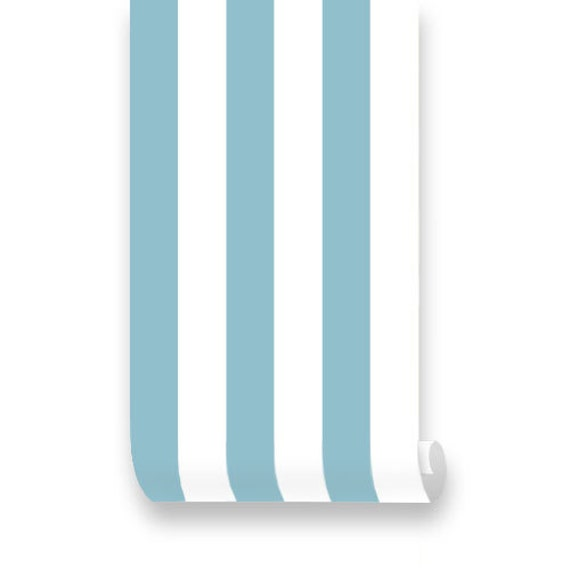 Items similar to monroe stripes teal removable wallpaper for Teal peel and stick wallpaper