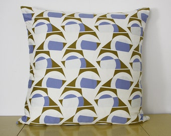 Hand Printed Cushion with Feather Pad