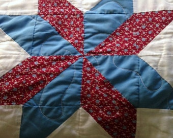 Queen Star Quilt, Full Star Quilt, CUTTER STAR QUILT,t Machine Stitched Quilt, Repurpose Star Quilt, Cutter Quilt, Repurpose Quilt