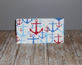 Checkbook Cover - Anchors