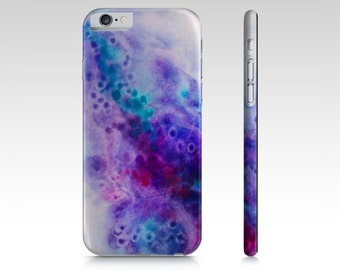 Purple, Aqua and Pink, Watercolor Art, Abstract Art, Phone case , iPhone 6, iPhone 6 plus, iPhone 5s/5, iPhone 5c, iPhone 4, Galaxy Case