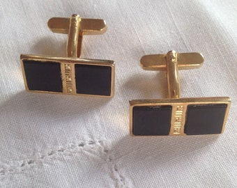 Vintage cufflinks with onyx from the 60s