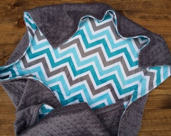 Personalized Baby Blanket, Chevron Minky Blanket, Baby Boy Minky Blanket, Boy Baby Blanket, Chevron Baby Blanket, Minky Baby Blanket