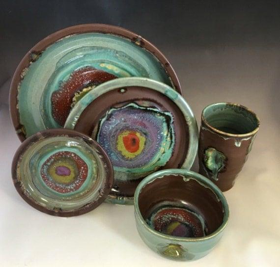 Handmade Ceramic Round Dinner Plates