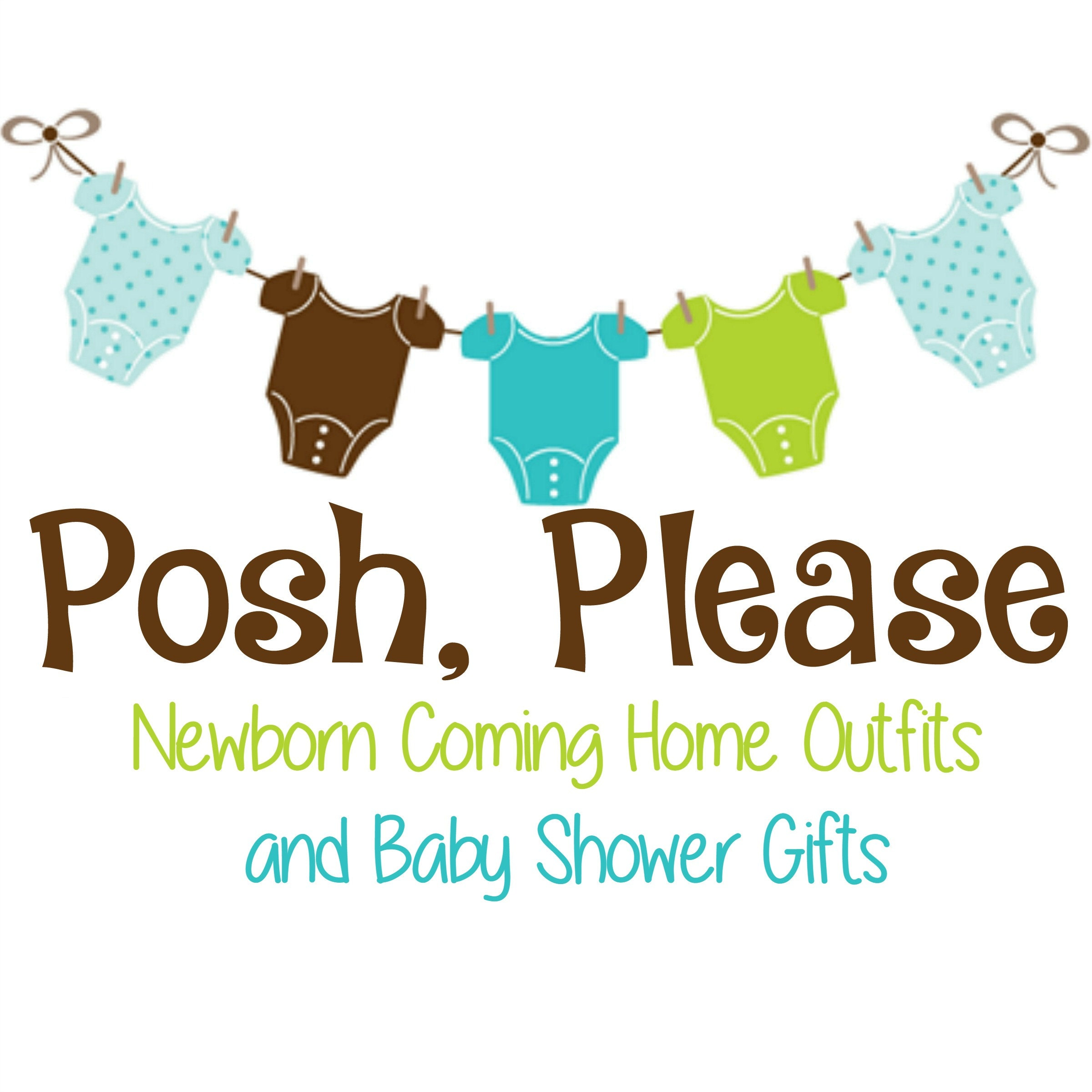 Onepiece newborn take home outfits baby shower by poshplease negle Choice Image