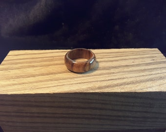 Ready to ship / African Zebra Wood Ring. Size 6