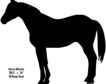 Horse Black Laser Cut Out Sign 24x28.5 RG8439B