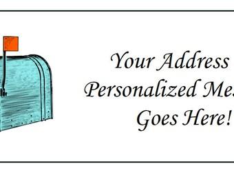 60 Personalized Antique Mailbox Return Address Labels
