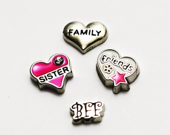 Floating Charms. Sisters, Friends, BFF and Family