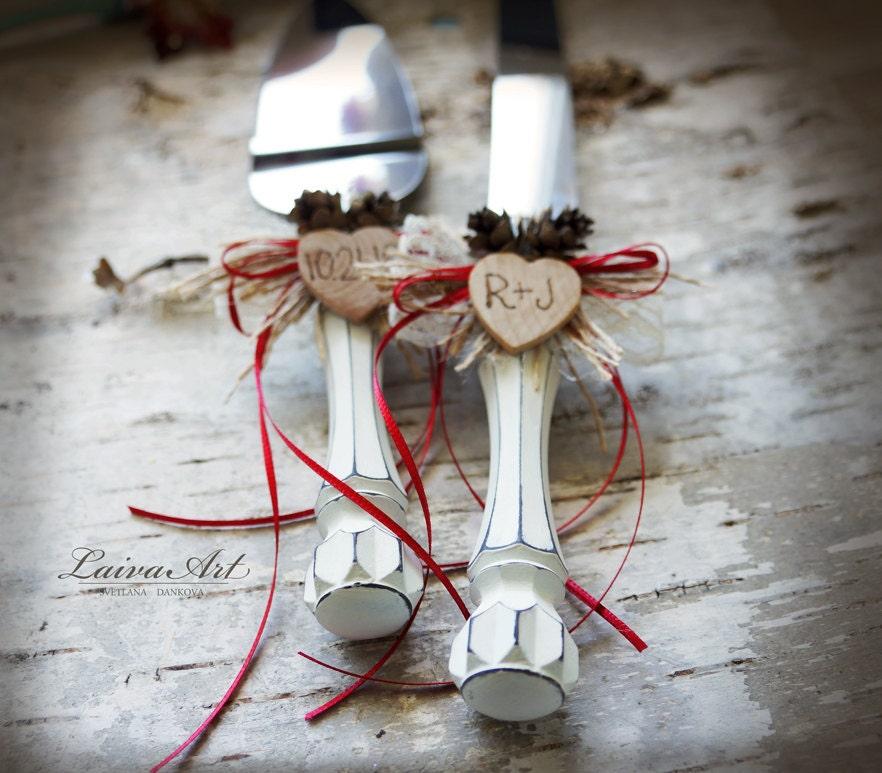 Rustic Wedding Cake Server Set Amp Knife Cake Cutting Set