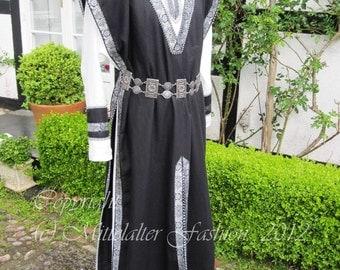 Medieval * 2-piece men's robe * armored skirt & Tunic * Linen *