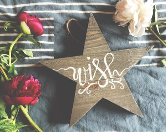 Wooden wish upon a star