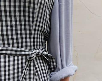GINGHAM DRESS {japanese vintage}
