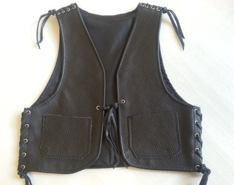 Leather vest,Biker vest for kids 3-6 years