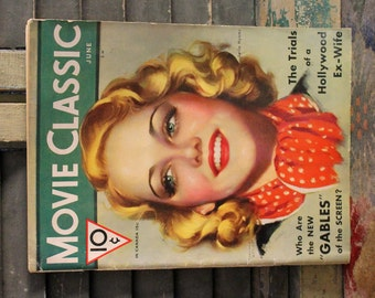 June 1932 Movie Classic Magazine Advertising Actors Actresses and the Scoop for the times