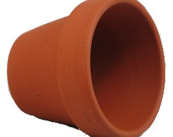 "25 - 3.5"" x 3"" Clay Pots - Great for Plants and Crafts"