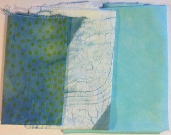 Hand Dyed Fabric Mix 04
