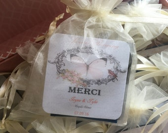Personalized Tags Organza Wedding Favors