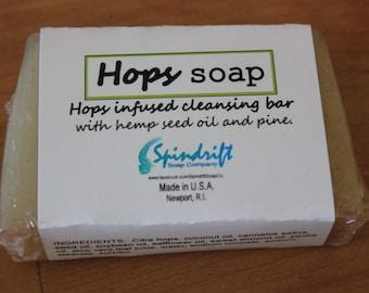 "Hops infused soap.  ""Hops soap"""
