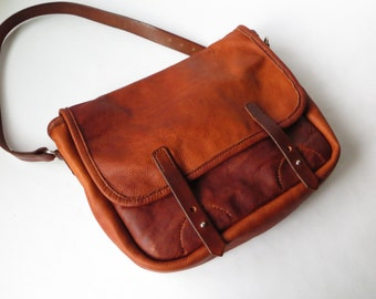 Mens Leather Bag, Leather Postal Bag, Mens Leather Satchel, Handmade Leather Bag