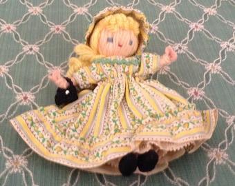 Delightful Tiny Yarn Doll