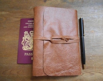 A6 Tan  Leather Journal