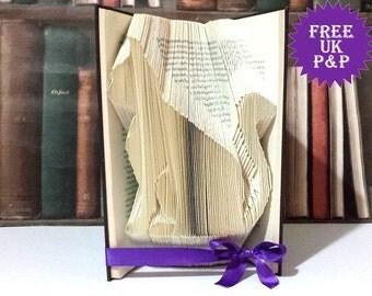 d cor chouette pli livre d 39 art origami serre livres par sazelgifts. Black Bedroom Furniture Sets. Home Design Ideas