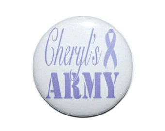 Esophageal Cancer Awareness  ribbon Periwinkle awareness ribbon cancer support ribbon 2 1/4 inch button