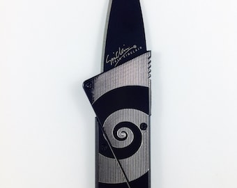Card Knife with Engraved Spiral Design