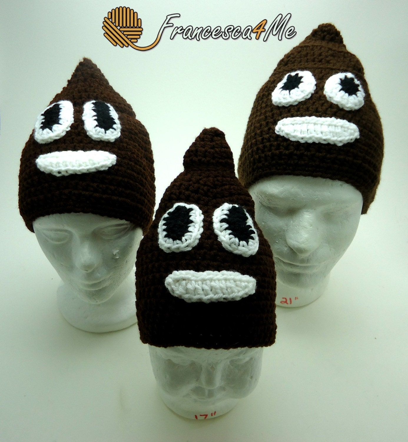Crochet Poop Emoji Hat Pattern By Francesca4me On Etsy