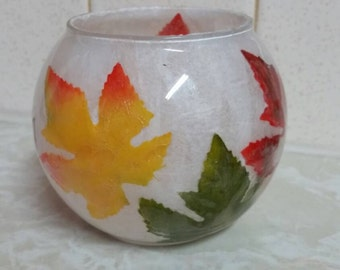 Fall themed tea light holder