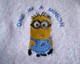 Minions Personalised Towel Sets - 2 x Hand Towels