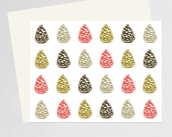 Holiday Pine Cones greeting card