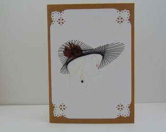 Lady with the Black Hat Greeting Card