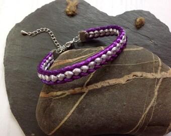 Flat two toned friendship bracelet