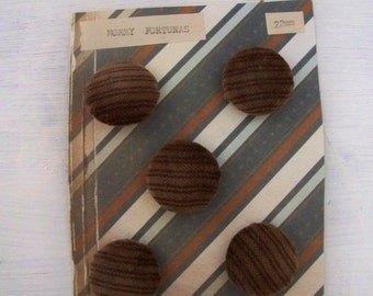 Hand covered Brown Buttons