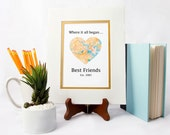 Where It All Began -Gift For Best Friends- Long Distance Friendship Relationship Gift- Moving Away or Going Away Present