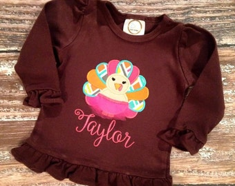 Diva tutu turkey personalized appliqué bodysuit/shirt/gown