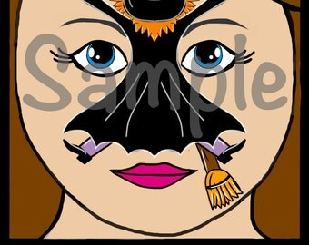 Halloween face paint designs 2