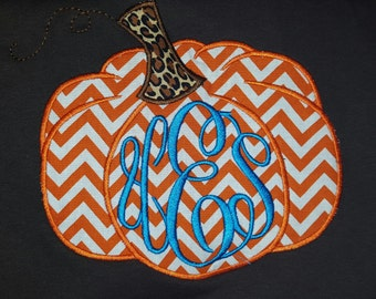 Chevron Pumpkin Tshirt