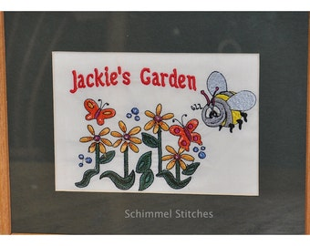 Personalized Framed Garden Embroidery,Custom Made