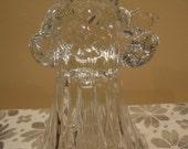 Crystal Santa Candle Holder/Vintage Christmas Candle Holder/Vintage Christmas/Vintage Crystal Figurine/Vintage Santa/Vintage Crystal Santa