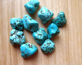 Natural Turquoise Bead Rough Natural Turquoise Beads Nugget Loose Stone A087