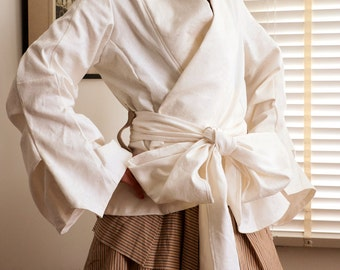 Japanese Kimono Style Jacket --- Made to Order --- Choose from Fabric Samples