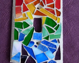Stained Glass Mosaic Light Switchplate