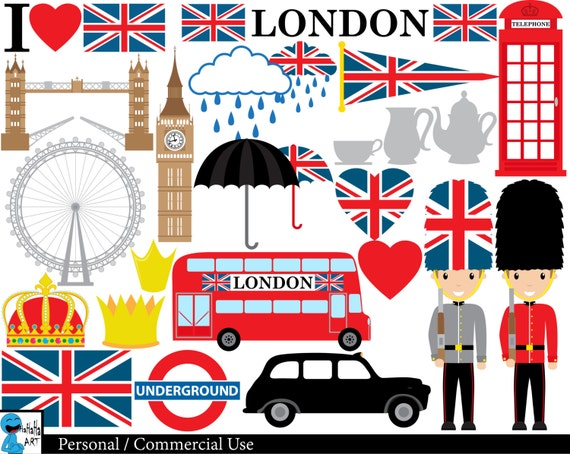 London Clip Art : London uk set clipart digital clip art graphics personal