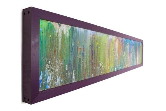 Long Wall Art glass wall art abstract art extra large modern wall light