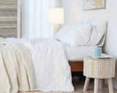 lightweight linen blanket bedspread made in Maine U.S.A.